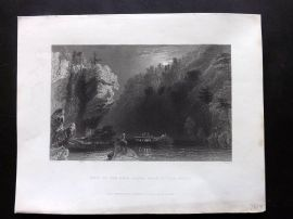 Bartlett America C1840 Print. View of the Erie Canal near Little Falls, USA